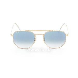 Очки Ray-Ban Marshal RB3648-001-3F Arista | Gradient Light Blue, вид спереди