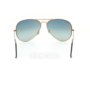 Очки Ray-Ban Aviator Large Metal II RB3026-197-71 Dark Arista | Grey Green, вид сзади