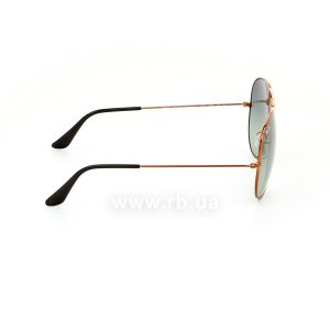 Очки Ray-Ban Aviator Large Metal II RB3026-197-71 Dark Arista | Grey Green, вид справа
