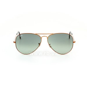 Очки Ray-Ban Aviator Large Metal II RB3026-197-71 Dark Arista | Grey Green, вид спереди