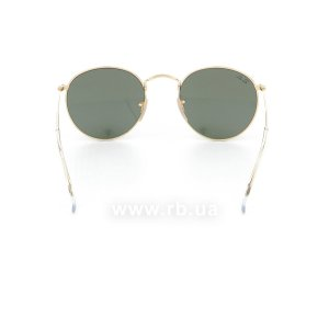 Очки Ray-Ban Round Metal RB3447-001 Arista/Natural Green (G-15XLT), вид сзади