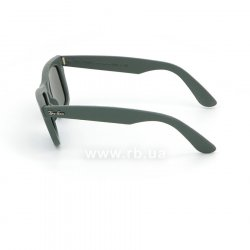 Очки Ray-Ban Original Wayfarer Leather RB2140QM-1170 Grey / Green Leather | Natural Green (G-15), вид слева