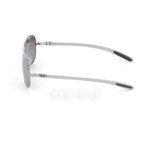 Очки Ray-Ban Cockpit Carbon Fibre RB8301-004-N8 Gunmetal | Neophan Polar Grey Silver Mirror P3 Plus, вид слева