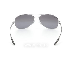 Очки Ray-Ban Cockpit Carbon Fibre RB8301-004-N8 Gunmetal | Neophan Polar Grey Silver Mirror P3 Plus, вид сзади