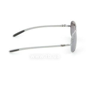 Очки Ray-Ban Cockpit Carbon Fibre RB8301-004-N8 Gunmetal | Neophan Polar Grey Silver Mirror P3 Plus, вид справа