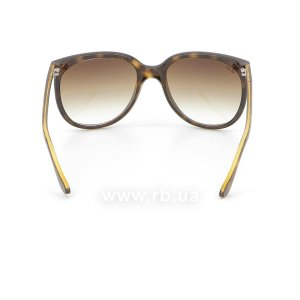 Очки Ray-Ban Cats 1000 RB4126-710-51 Shiny Avana/Faded Brown, вид сзади
