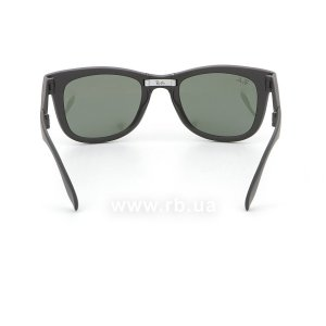 Очки Ray-Ban Folding Wayfarer RB4105-601S Matt Black | Natural Green (G-15XLT), вид сзади