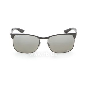 Очки Ray-Ban Chromance RB8319CH-186-5J Black  | Silver Mirror Chromance Polarized, вид спереди