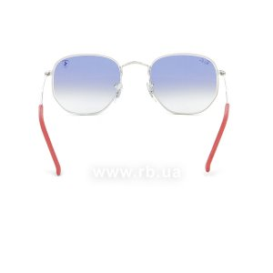 Очки Ray-Ban Scuderia Ferrari Collection RB3548NM-F007-3F Silver | Gradient Light Blue, вид сзади