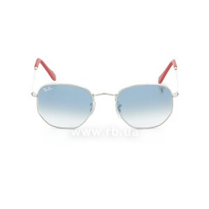 Очки Ray-Ban Scuderia Ferrari Collection RB3548NM-F007-3F Silver | Gradient Light Blue, вид спереди
