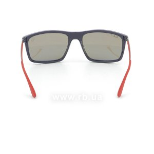 Очки Ray-Ban Scuderia Ferrari Collection RB4228M-F606-H0 Blue / Red | Blue Polarized, вид сзади