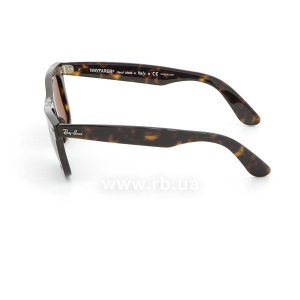 Очки Ray-Ban Original Wayfarer RB2140-902-57 Dark Havana | Natural Brown Polarized, вид слева