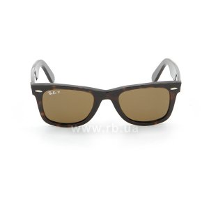 Очки Ray-Ban Original Wayfarer RB2140-902-57 Dark Havana | Natural Brown Polarized, вид спереди