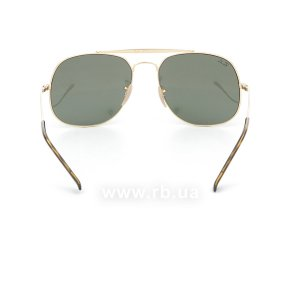 Очки Ray-Ban The General RB3561-001 Arista/Natural Green (G-15XLT), вид сзади
