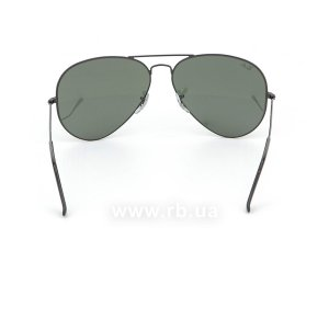 Очки Ray-Ban Aviator Large Metal II RB3026-L2821 Black/Natural Green (G-15XLT), вид сзади