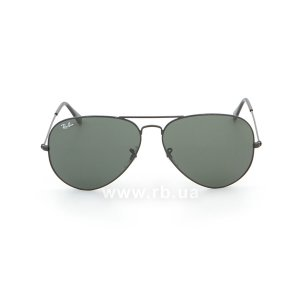 Очки Ray-Ban Aviator Large Metal II RB3026-L2821 Black/Natural Green (G-15XLT), вид спереди