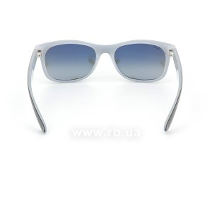 Очки Ray-Ban New Wayfarer Color Mix RB2132-6309-71 Black / White | Green / Grey, вид сзади