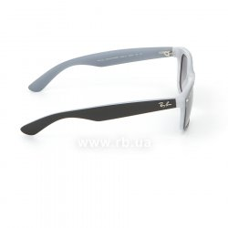 Очки Ray-Ban New Wayfarer Color Mix RB2132-6309-71 Black / White | Green / Grey, вид справа