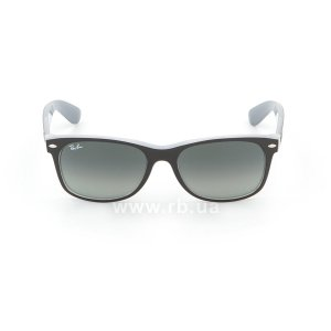 Очки Ray-Ban New Wayfarer Color Mix RB2132-6309-71 Black / White | Green / Grey, вид спереди