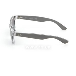 Очки Ray-Ban New Wayfarer Color Mix RB2132-6143-71 Matt GreyOn Crystal | Grey Gradient, вид слева