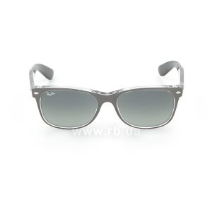 Очки Ray-Ban New Wayfarer Color Mix RB2132-6143-71 Matt GreyOn Crystal | Grey Gradient, вид спереди