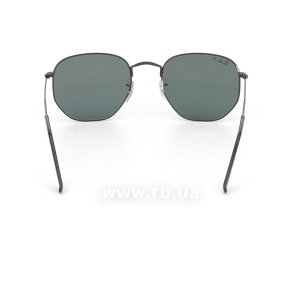 Очки Ray-Ban Hexagonal Flat Lenses RB3548N-002-58 Black | Natural Green Polarized, вид сзади