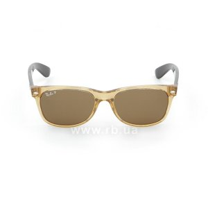 Очки Ray-Ban New Wayfarer RB2132-945-57 Honey | Natural Brown Polarized, вид спереди