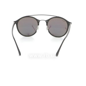 Очки Ray-Ban LightRay Round RB4266-601S-3R Matt Black | Green Mirror, вид сзади