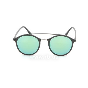 Очки Ray-Ban LightRay Round RB4266-601S-3R Matt Black | Green Mirror, вид спереди