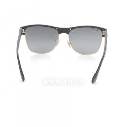Очки Ray-Ban Oversized Clubmaster RB4175-877-M3 Matte Black/ Arista | Black Polar Faded Grey 24