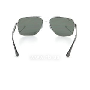 Очки Ray-Ban Active Lifestyle RB3483-004-58 Gunmetal | Natural Green Polarized, вид сзади