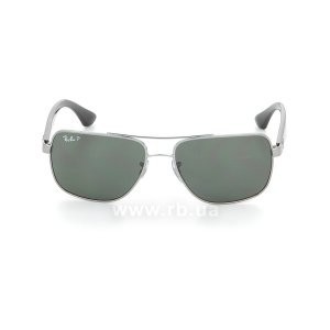 Очки Ray-Ban Active Lifestyle RB3483-004-58 Gunmetal | Natural Green Polarized, вид спереди