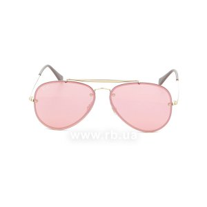Очки Ray-Ban Blaze Aviator RB3584N-9052-E4 Arista | Pink Mirror, вид спереди