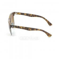 Очки Ray-Ban Oversized Clubmaster RB4175-878-M2 Matte Havana/Gunmetal | Brown Gradient Polarized 12