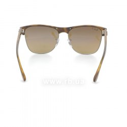 Очки Ray-Ban Oversized Clubmaster RB4175-878-M2 Matte Havana/Gunmetal | Brown Gradient Polarized 24