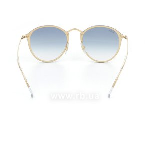Очки Ray-Ban Blaze Round RB3574N-001-X0 Arista | Blue Gradient Mirror, вид сзади