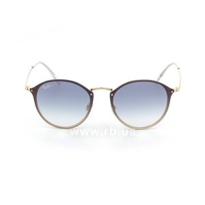 Очки Ray-Ban Blaze Round RB3574N-001-X0 Arista | Blue Gradient Mirror, вид спереди