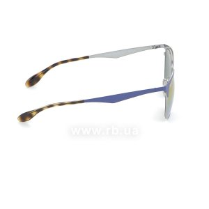 Очки Ray-Ban Clubmaster Metal RB3538-9005-A9 Blue/Silver | Pink Violet, вид справа