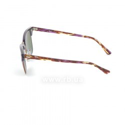 Очки Ray-Ban Clubmaster RB3016-1221-C3 Violet/Arista | Green Rainbow Mirror, вид слева