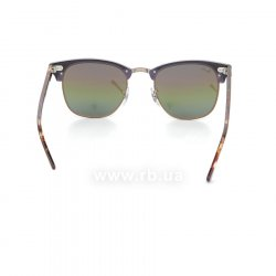Очки Ray-Ban Clubmaster RB3016-1221-C3 Violet/Arista | Green Rainbow Mirror, вид сзади