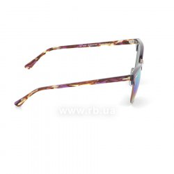 Очки Ray-Ban Clubmaster RB3016-1221-C3 Violet/Arista | Green Rainbow Mirror, вид справа
