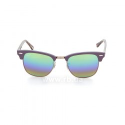 Очки Ray-Ban Clubmaster RB3016-1221-C3 Violet/Arista | Green Rainbow Mirror, вид спереди