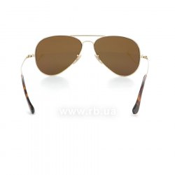 Очки Ray-Ban Ultra Aviator RB8029K-040K-N3 Yellow Gold | Brown Mirror Gold Polarized P3 Plus, вид сзади