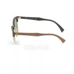 Очки Ray-Ban Clubmaster Wood RB3016M-1182-4E Brown Wood/Arista/Green 12