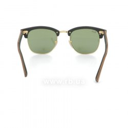 Очки Ray-Ban Clubmaster Wood RB3016M-1182-4E Brown Wood/Arista/Green 24