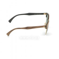Очки Ray-Ban Clubmaster Wood RB3016M-1182-4E Brown Wood/Arista/Green 36