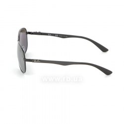 Очки Ray-Ban Carbon Fibre RB8313-002-K7 Black | APX Silver Gradient  Mirror Polarized 12