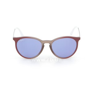 Очки Ray-Ban Youngster Round RB4274-6366-D1 Transparent Red / Silver / White | Dark Violet, вид спереди
