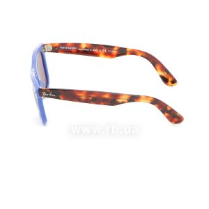 Очки Ray-Ban Original Wayfarer Pop RB2140-1241-W0 Blue / Havana | Purple Polarized, вид слева