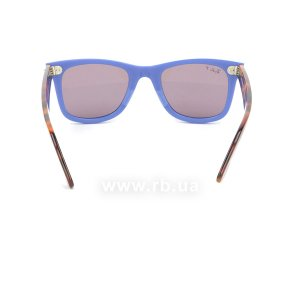 Очки Ray-Ban Original Wayfarer Pop RB2140-1241-W0 Blue / Havana | Purple Polarized, вид сзади